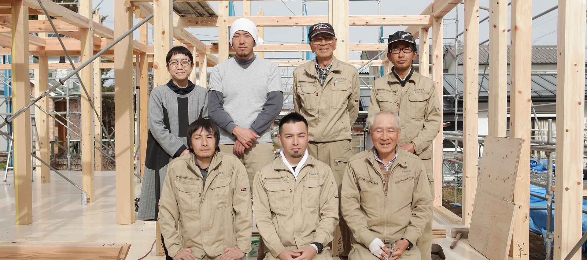 新津技建のスタッフ